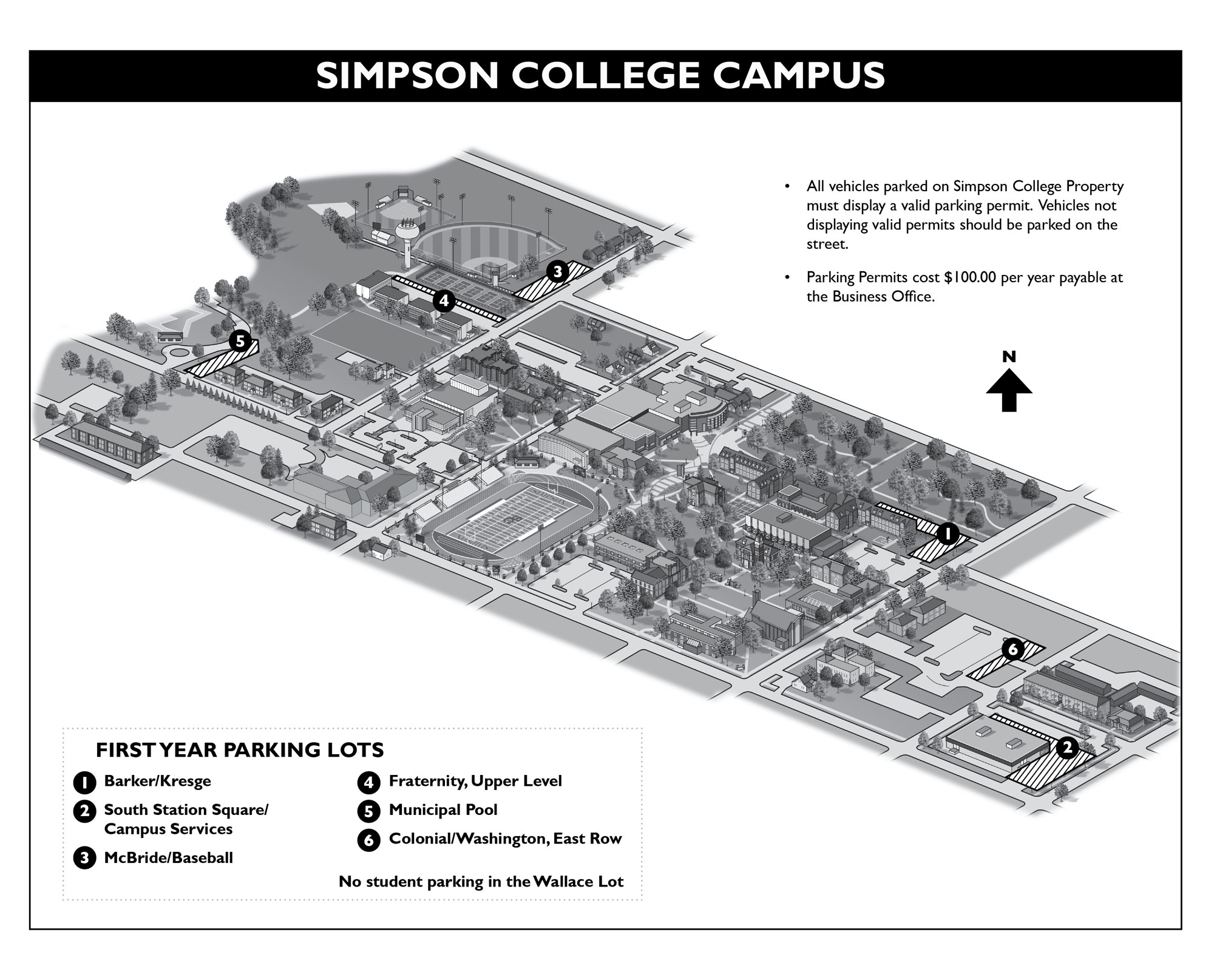 2018 Campus Parking Map
